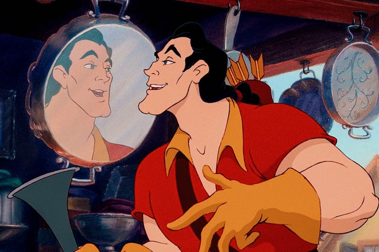 Gaston admiring himself because he's so hot can you blame him